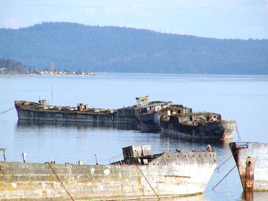 Powell River Breakwall concrete ships abandoned ships around the world in Canada