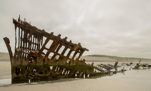 The Peter Iredale abandoned ships around the world located in Oregon.