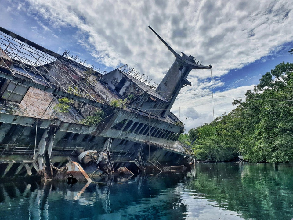World Discoverer Shipwreck one of the best abandoned ships around the world