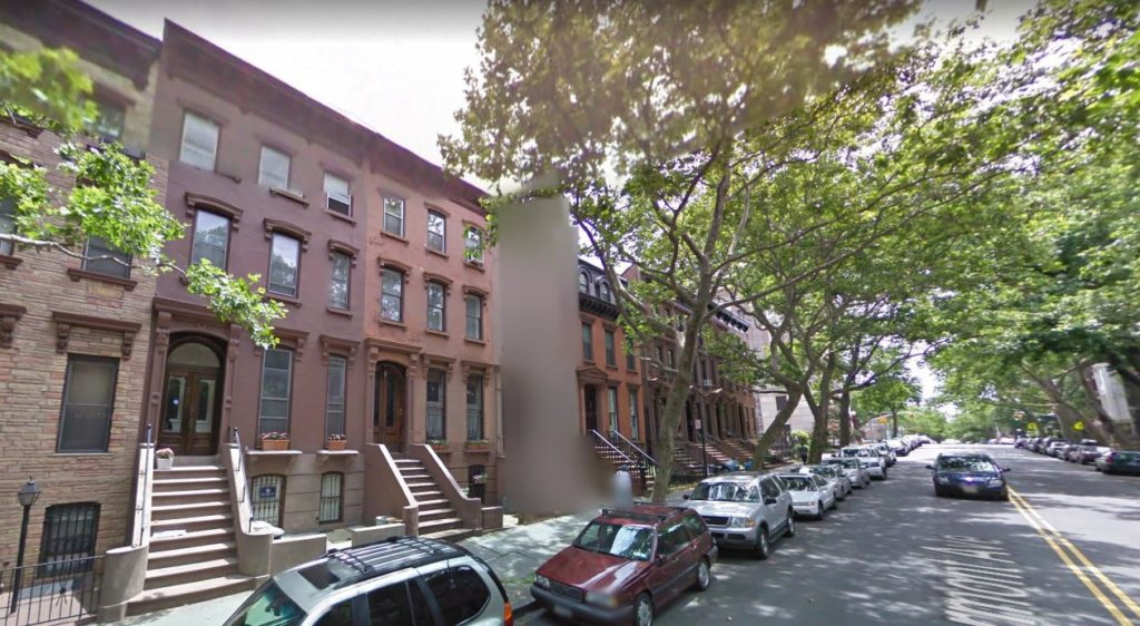blurred out Brooklyn home on google maps