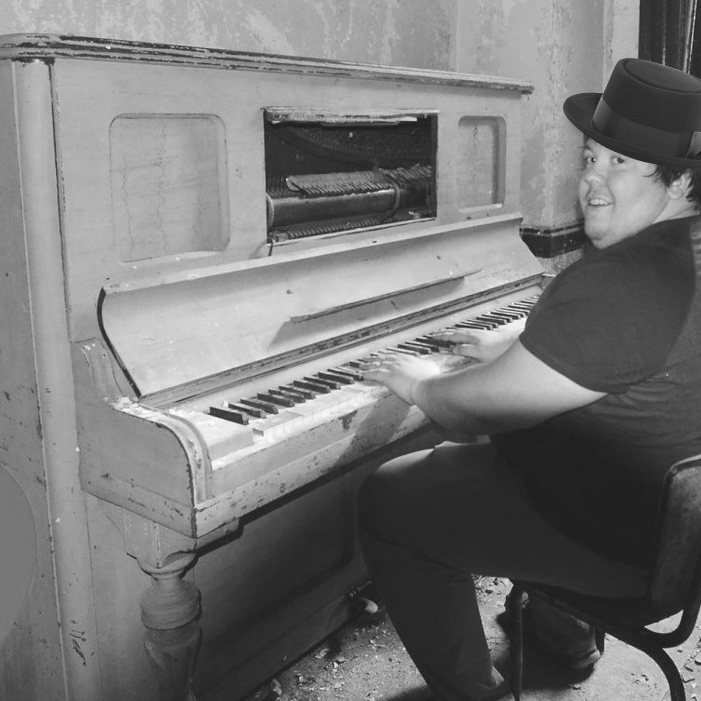 founder of urban exploration playing piano.