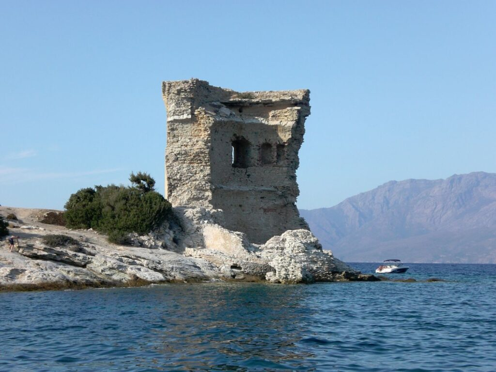 old destroyed fort on the water in