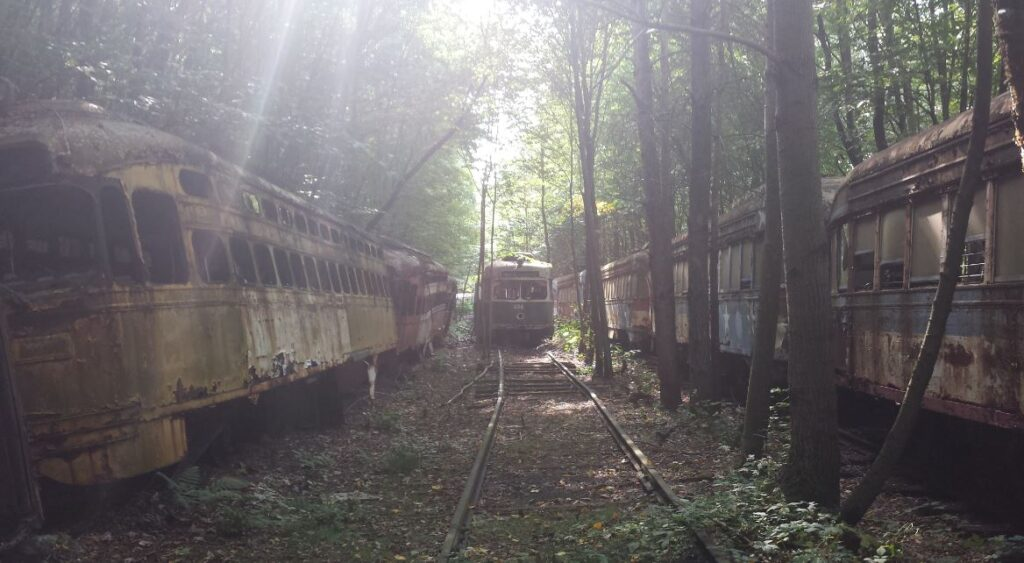 most beautiful abandoned places in Pennsylvania old trains