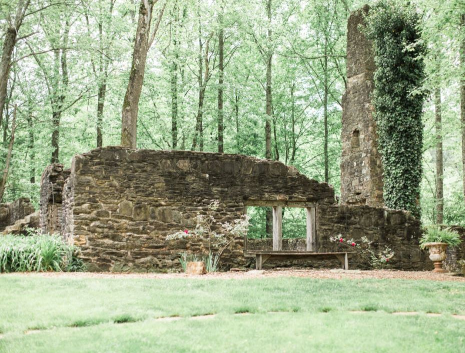 Old abandoned stone ruins in the Georgia wilderness