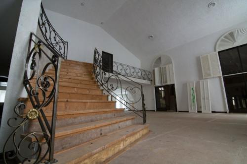 Abandoned mansion stairway